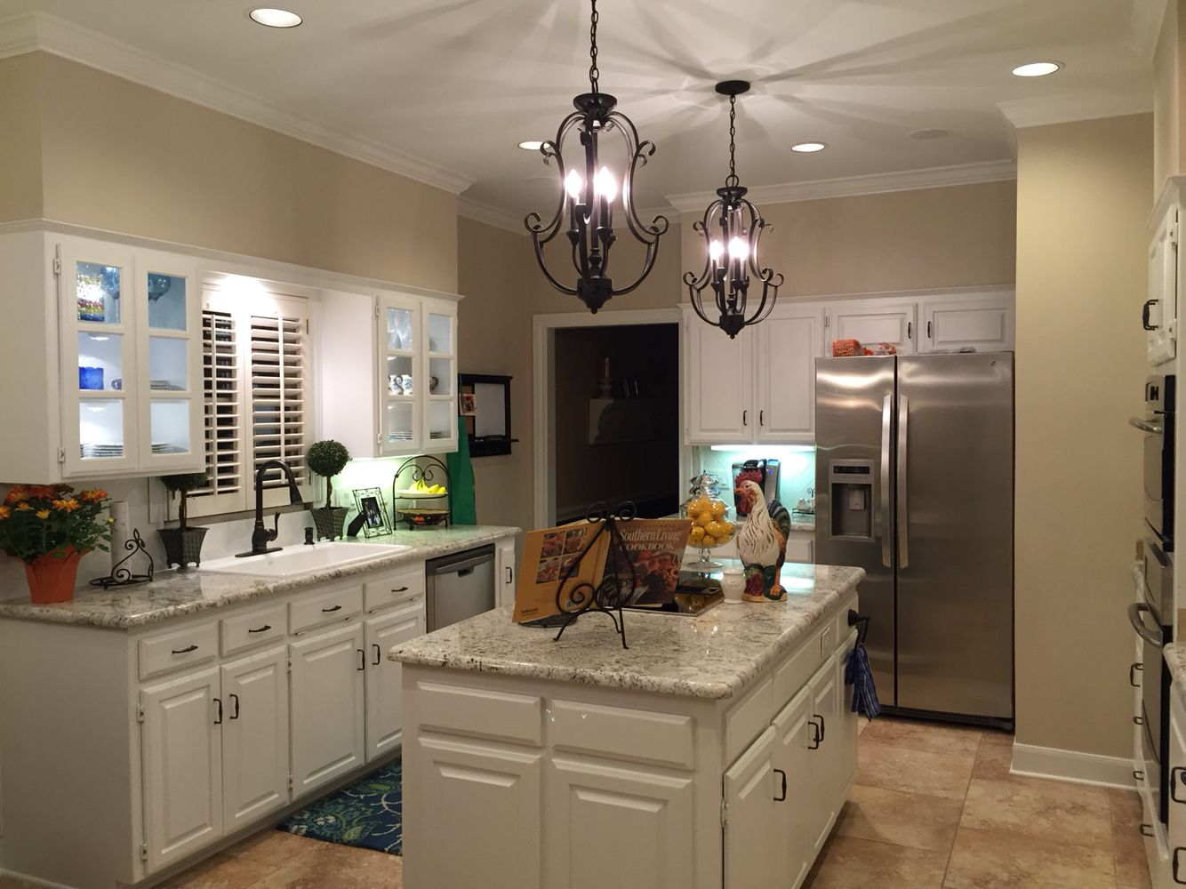 sherwin williams paint for kitchen cabinets white marble countertops spring granite