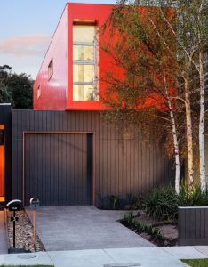 Bright color with brown consider mustard yellow prefab house in australia modscape project also  home so simple and scandinavian inspiring rh pinterest