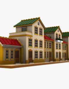 House also cartoon toon max  model modeling pinterest rh