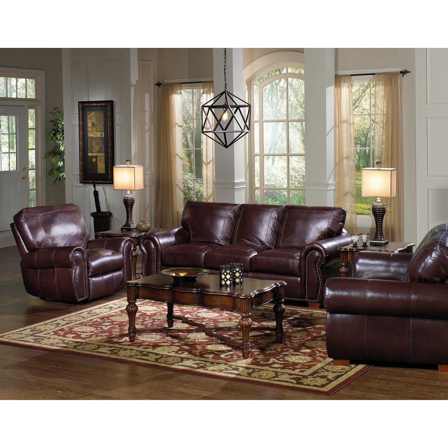 rooms to go leather sofa set diy pallet sectional kingston top grain loveseat and recliner