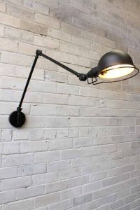 Industrial Two Arm Light | Task lighting, Industrial and Walls
