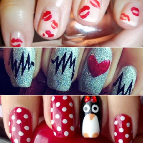 Valentine' Day Nail Art Ideas Put In Mood Love Contortionist