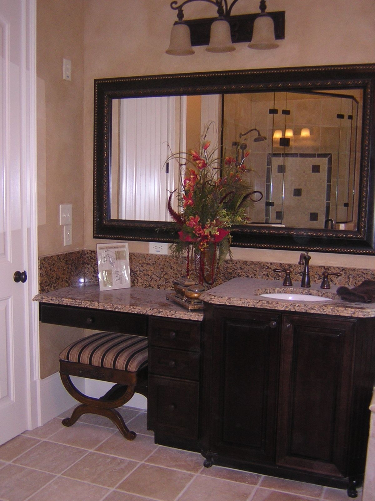 touch on kitchen faucet american made cabinets dark cherry with vanity sitting space | our ...
