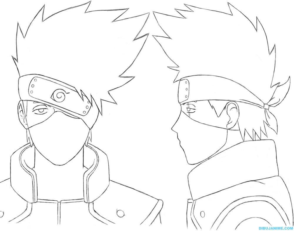 Como Dibujar A Kakashi Hatake (rostro Y Cuerpo) Naruto