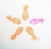 Original Hand Painted Pineapple Watercolor Painting ...