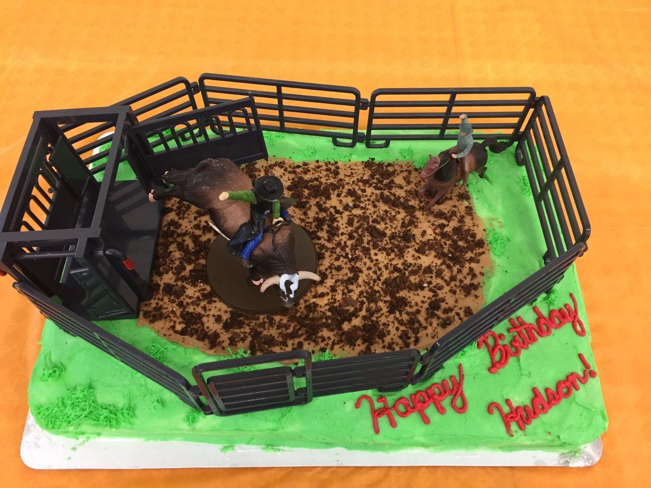 Rodeo Bull Rider Cake Hudson S Birthday Cake Kaylea