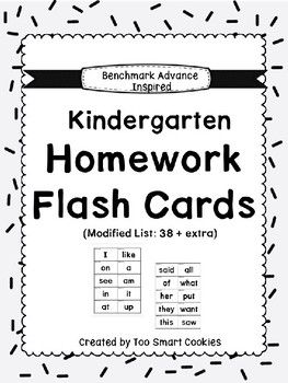 3e. Benchmark Advance Kinder High Frequency Homework Flash