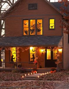 Eerie outdoor halloween decorations also black paper silhouettes and rh pinterest