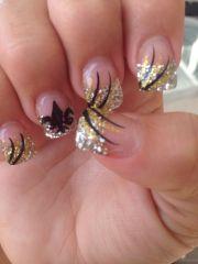 orleans saints acrylic nails