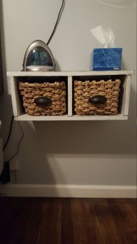 Floating Nightstand with Baskets by TastefulHomemaker on ...
