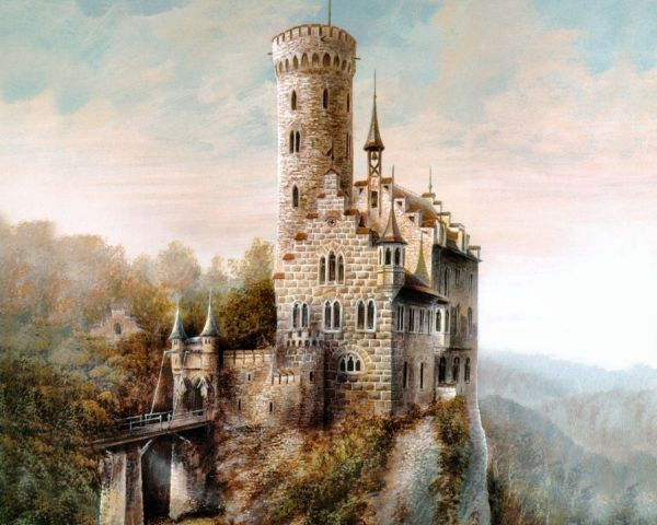 Medieval Castle Tower Painting