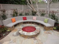 stone fire pit kit and Bench | Fire Pit Ideas | Pinterest ...