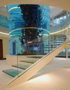 Dream fish tank aquarium inside home grand mansions castles homes  luxury wealth and  like the idea also amazing staircase it never hurts to pinterest rh