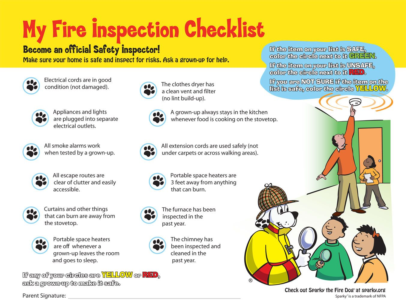 Here Is A Great Fire Safety Checklist To Do With Your
