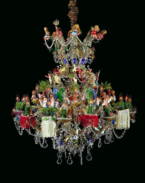 Pepon Osorio El Chandelier Functional Metal And Glass With Plastic Toys