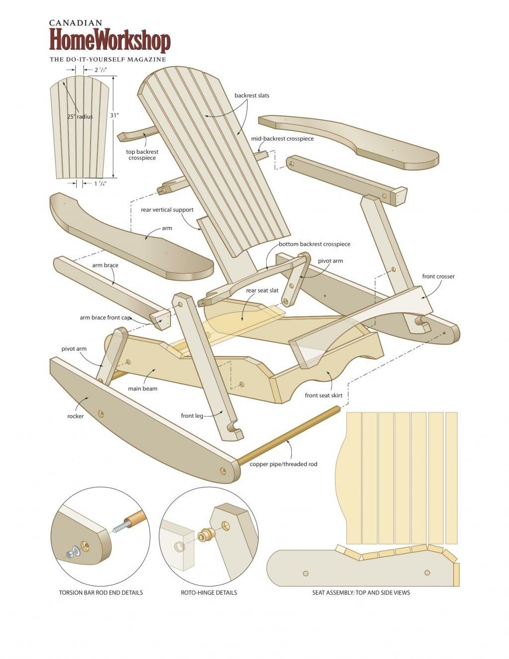 composite adirondack rocking chairs modern lounge chair and ottoman inspiring free plans make a muskoka