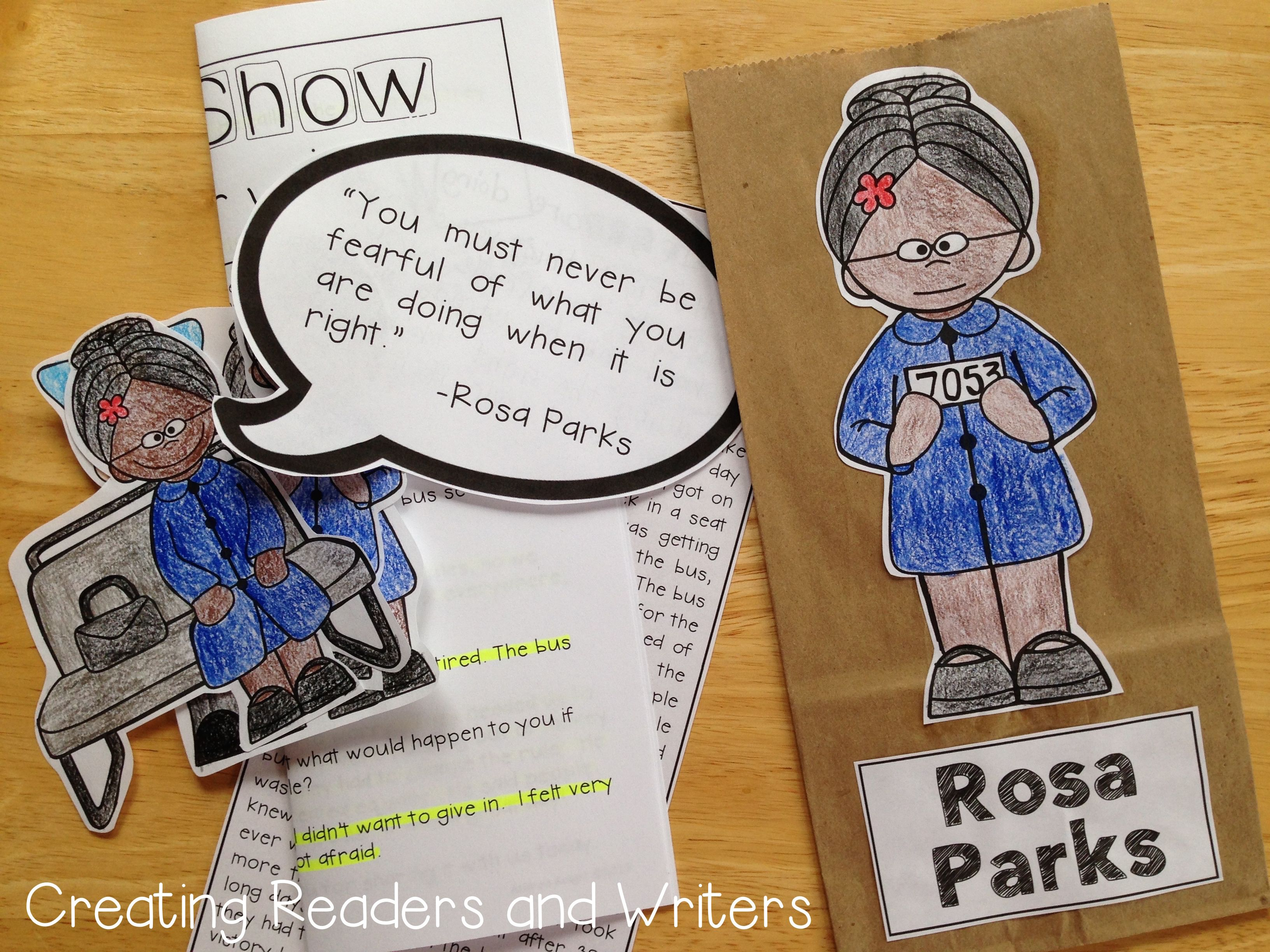 Paper Bag Biography Rosa Parks A Project For Grades 1 2
