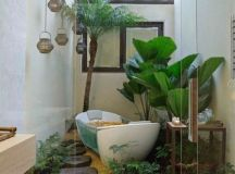 I could use a bathroom like this! Indoor Garden Designs ...