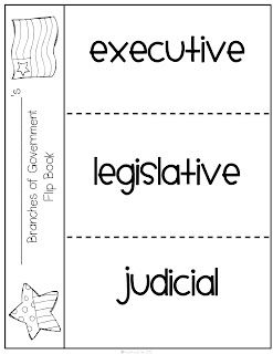 Here's a foldable on the branches of government. Full