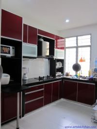 Image result for maroon color kitchen cabinets | kitchen ...