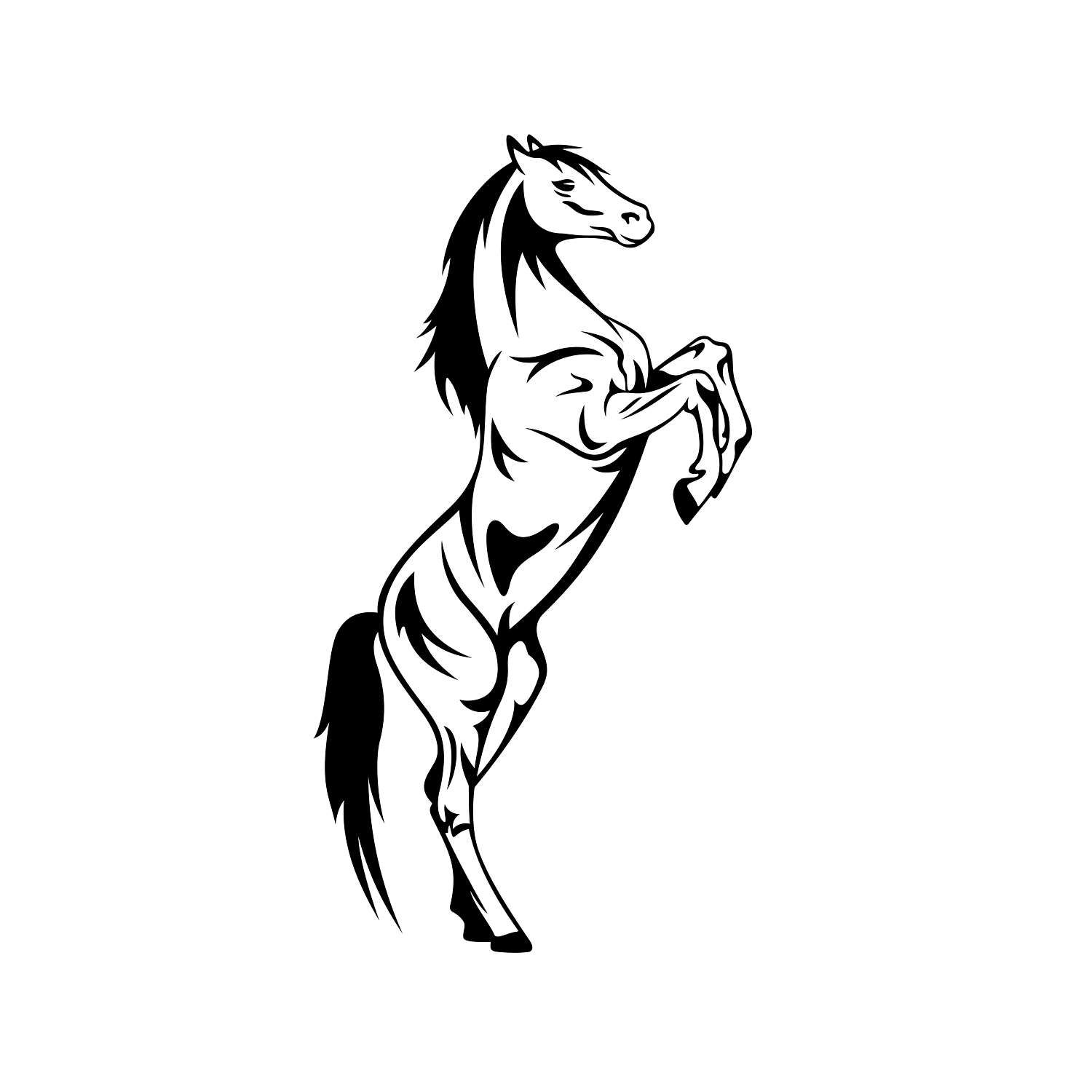 Horse Graphics Svg Dxf Eps Cdr Ai Vector Art