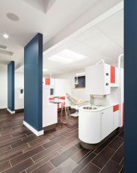 Children's dentist office. Mod style, bright colors ...