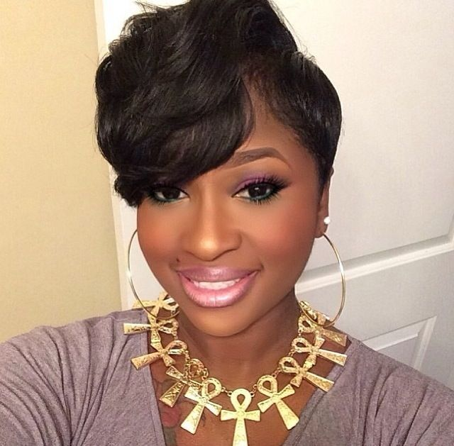 Short Hair Cut With A Big Bang #blackwomen #hairstyle Your Crown