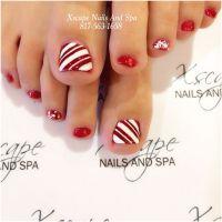 Christmas nail designs | Toe Nails Designs | Pinterest ...
