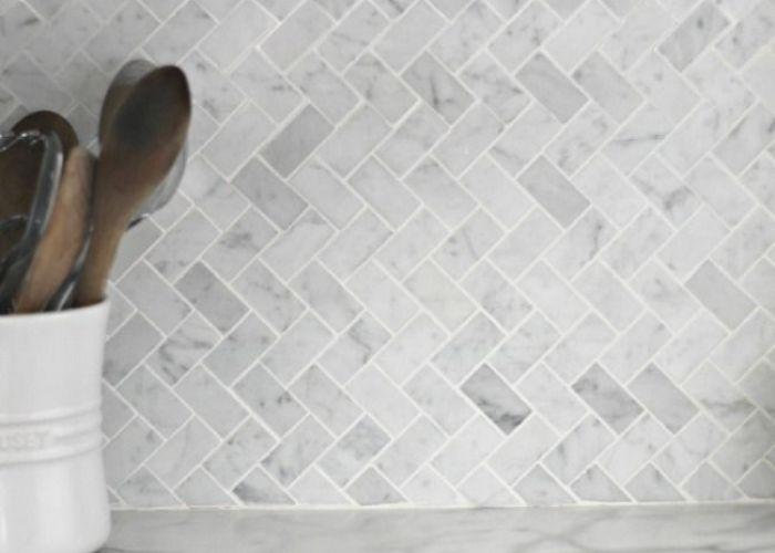 Herringbone grey splash back tiles little things interiors more also