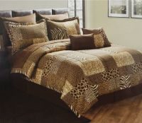 cheetah quilt designs | Leopard Patchwork Print Bedding ...