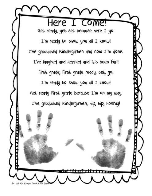 First grade here I come poem (add handprints