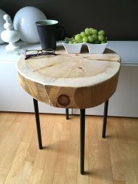 Stump Table with metal legs, Root Coffee Tables, Root