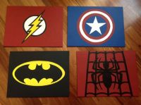 Superhero Canvas -- custom and handmade, Super hero wall ...