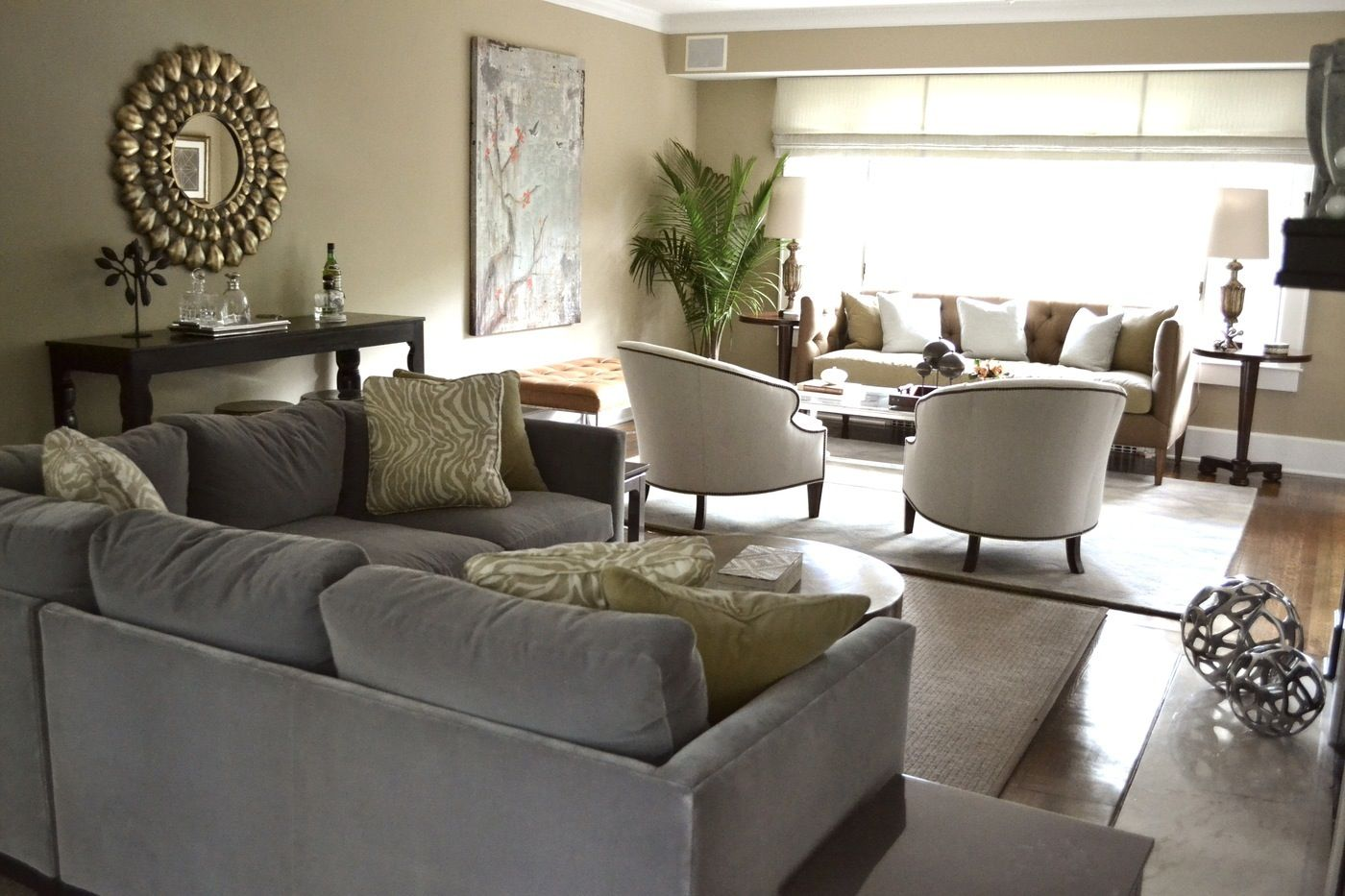 small sofa for bedroom sitting area leather melbourne fl living room with two seating areas future