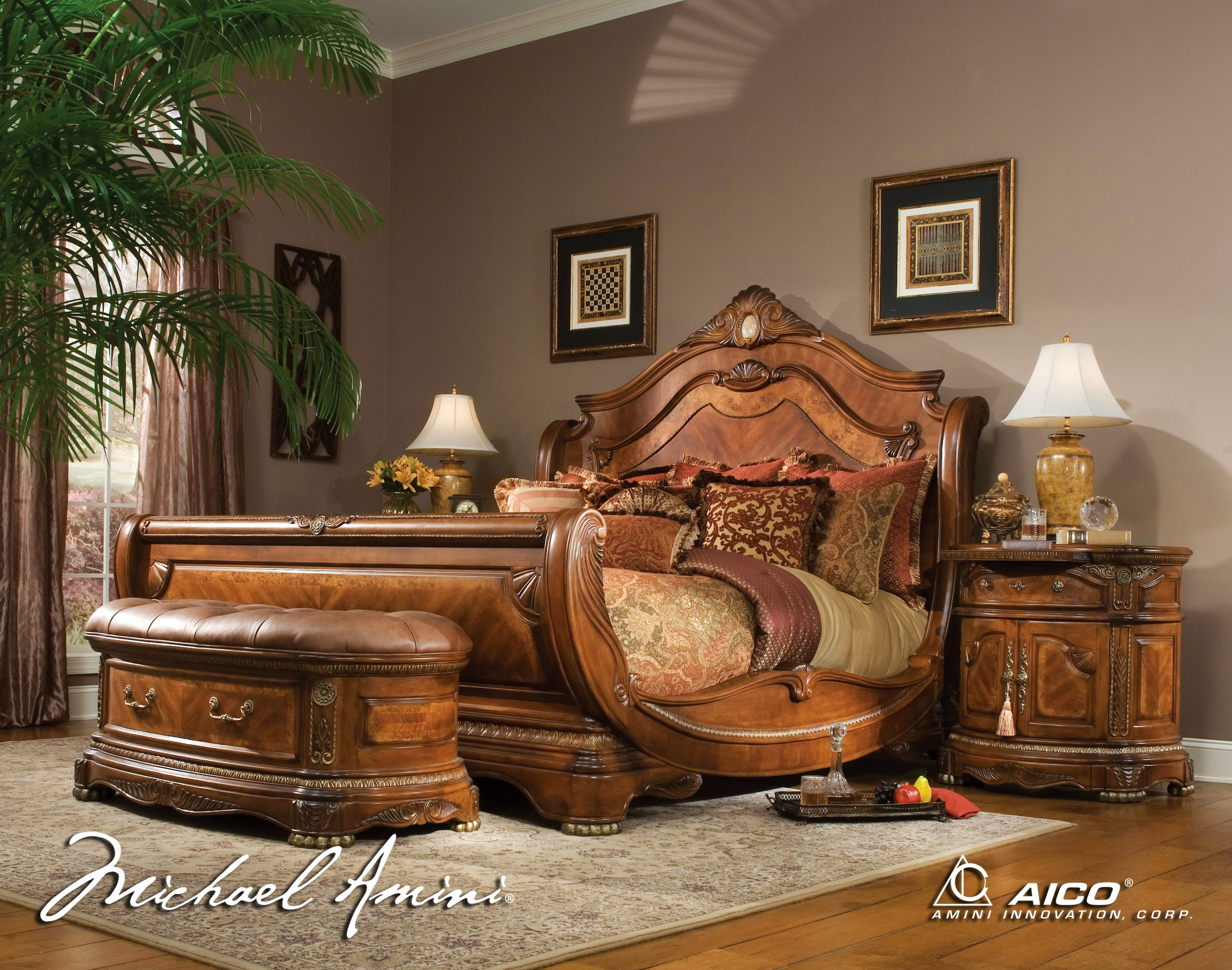 King Size Bedroom Furniture Sets  Back to Post AICO 4pc Cortina California King Size Bed