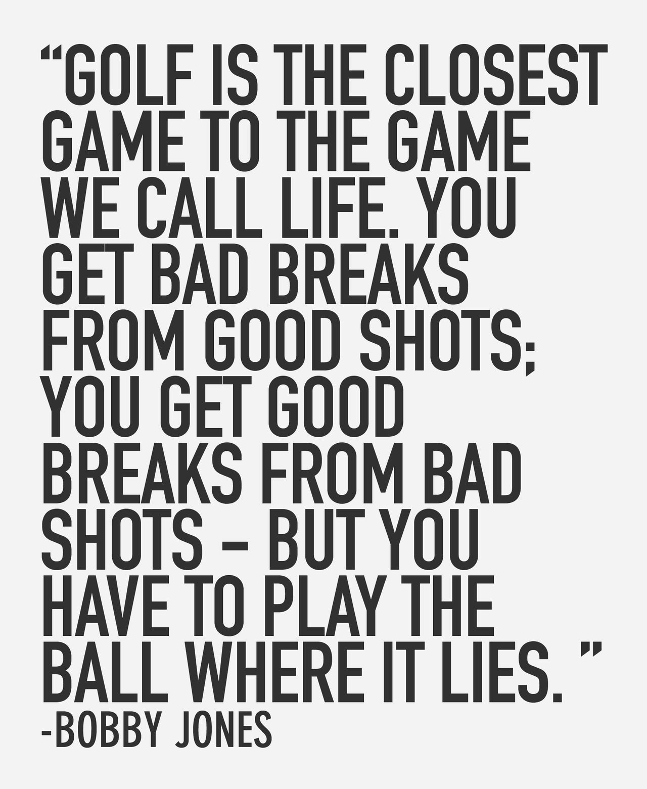 Golf And Life Quotes Golf And Life Quotes  Quotes Of The Day