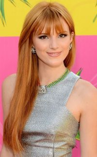 Bella Thorne Long Hairstyle: Strawberry-blonde Hair with ...