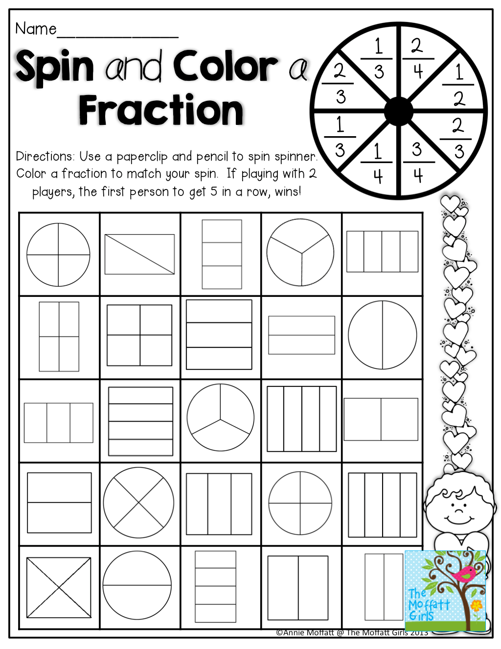 Math Is Fun Fractions Worksheet