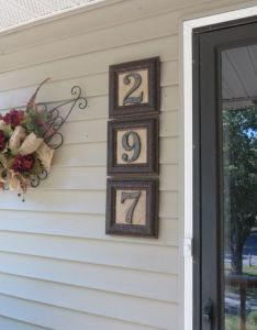 House numbers made from mirror frames oooh hobby lobby here  come tyler will also rh pinterest