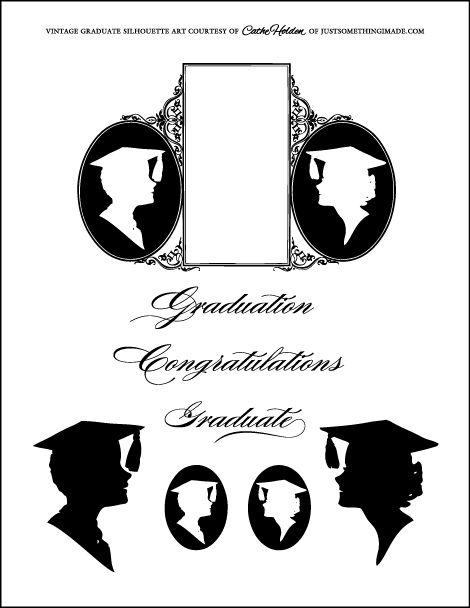 Graduate Silhouettes by Cathe Holden JustSomethingIMade