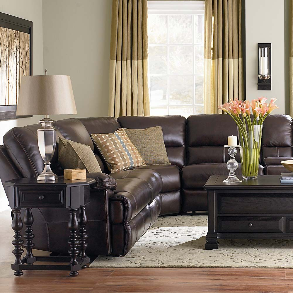 Custom Dining 44 Oval Table  Leather sectional