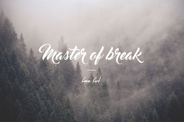 Master Of Break Free Font. 2016 Fonts