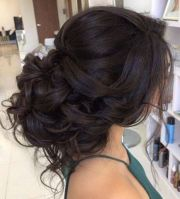 loose curls updo wedding hairstyle
