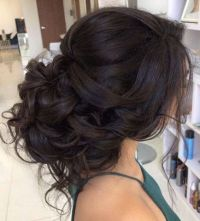 Loose Curls Updo Wedding Hairstyle | Low updo, Updo and ...