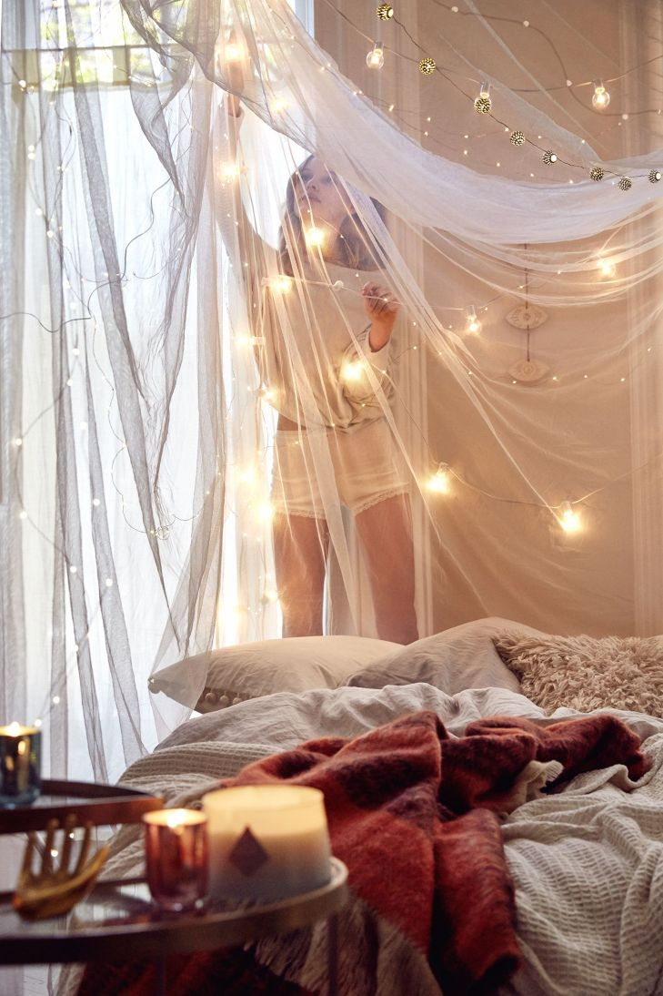 Desktop fairy light net bedroom for pc hd draped canopy red touch on bed with blue to