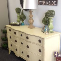 Where Can I Donate My Old Sofa Vintage Mid Century Antique Dresser Painted In Cream Chalk Paint Decorative
