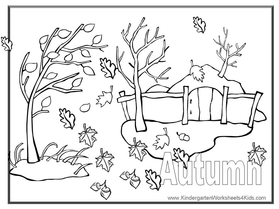 Autumn Colouring Pictures Free Coloration