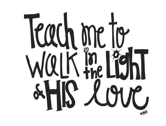 Melonheadz LDS illustrating: Teach me to walk in the light