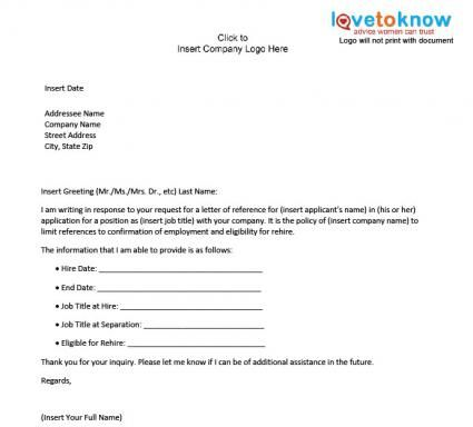 Business Letter Of Reference Template Letter Of