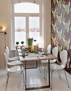 Decoration the keen dining room with six white chairs image decorating  three apartment style how to furnish small also pin by debbie ng on for home pinterest tvs rh